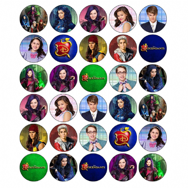 DESCENDANTS PARTY CUPCAKE TOPPERS